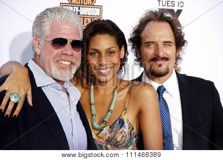 Ron Perlman and Kim Coates at the FX's Season 6 Premiere Screening of