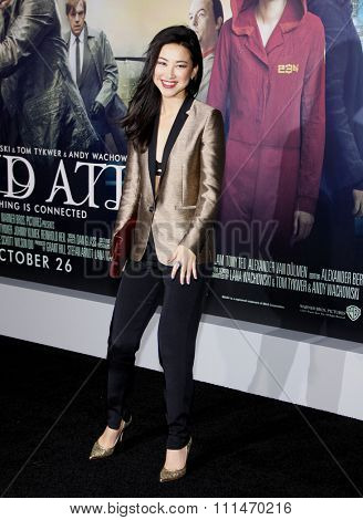 Zhu Zhu at the Los Angeles premiere of 'Cloud Atlas' held at the Grauman's Chinese Theatre in Hollywood on October 24, 2012.