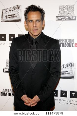 Ben Stiller at the American Cinematheque 26th Annual Award Presentation To Ben Stiller held at the Beverly Hilton Hotel in Beverly Hills on November 15, 2012.