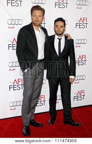 Ewan McGregor and Juan Antonio Bayona at the AFI FEST 2012 Special Screening of 'The Impossible' held at the Grauman's Chinese Theatre in Hollywood on November 4, 2012.