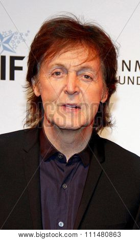 Sir Paul McCartney at the 23rd Annual Simply Shakespeare held at the Broad Stage in Los Angeles on September 25, 2013 in Los Angeles, California.