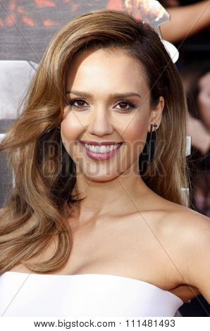 Jessica Alba at the 2014 MTV Movie Awards held at the Nokia Theatre L.A. Live in Los Angeles on April 13, 2014 in Los Angeles, California.