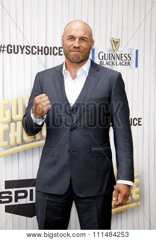Randy Couture at the 2013 Spike TV Guys Choice Awards held at the Sony Pictures Studios in Culver City in Los Angeles, United States, 080613.