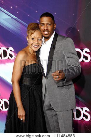 Nick Cannon and Beth Hackett at the  2012 Halo Awards held at the Hollywood Palladium in Hollywood on November 17, 2012.