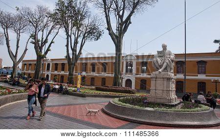 Lima, Peru - December 3, 2015: Park University On 3 December 201