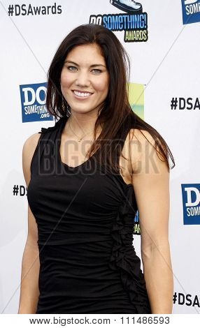 Hope Solo at the 2012 Do Something Awards held at the Barker Hangar in Santa Monica on August 19, 2012.