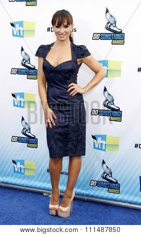 Karina Smirnoff at the 2012 Do Something Awards held at the Barker Hangar in Santa Monica on August 19, 2012.