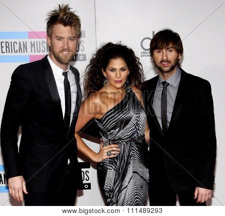 Lady Antebellum at the 2010 American Music Awards held at the Nokia Theatre L.A. Live in Los Angeles on November 21, 2010.