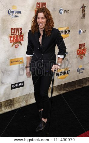 Shaun White at the 2010 Spike TV's Guys Choice Awards held at the Sony Pictures Studios in Culver City on June 5, 2010.