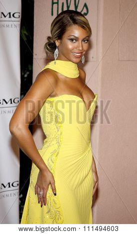 Beyonce Knowles at the 2008 Sony/BMG Grammy After Party held at the Beverly Hills Hotel in Beverly Hills on February 10, 2008.