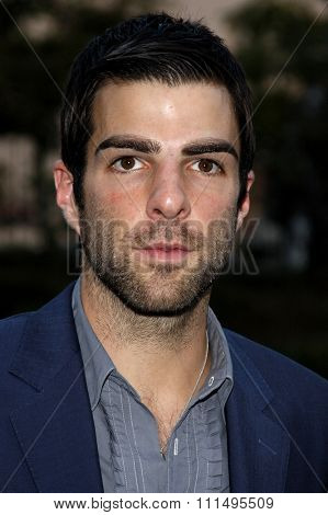 Zachary Quinto at the 2007 Environmental Media Awards held at the Ebell Club in Los Angeles on October 24, 2007.