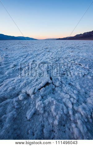 Sunset at Badwater basin Death Valley, Salt flat , Lowest point in USA