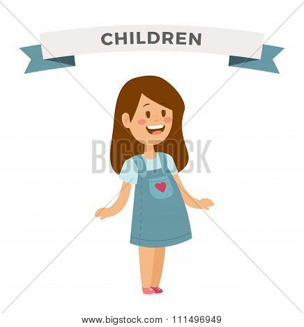 Cute little girl cute dress
