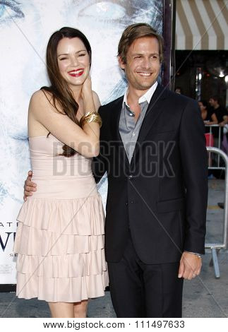 Gabriel Macht and Jacinda Barrett at the Los Angeles premiere of 'Whiteout