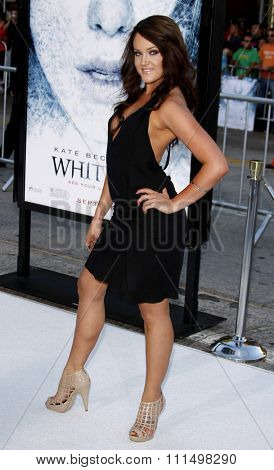 Lacey Schwimmer at the Los Angeles premiere of 'Whiteout