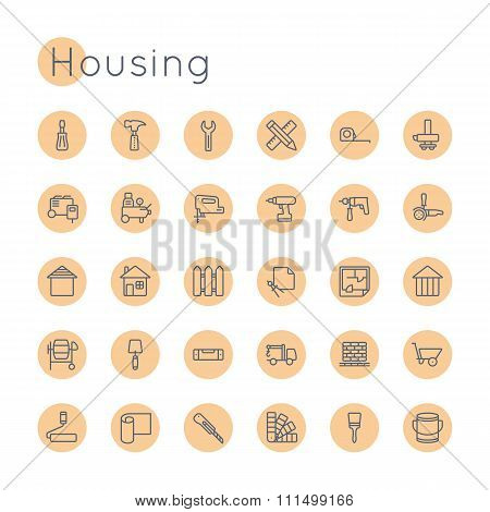 Vector Round Housing Icons