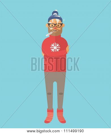 People ill vector illustration
