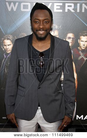 Will.i.am at the Los Angeles premiere of 'X-Men Origins: Wolverine' held at the Grauman's Chinese Theatre in Hollywood on April 28, 2009.