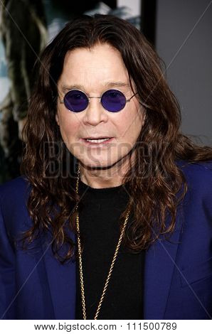 Ozzy Osbourne at the Los Angeles premiere of 'Total Recall' held at the Grauman's Chinese Theatre in Hollywood on August 1, 2012.