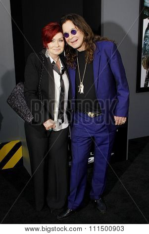 Ozzy Osbourne and Sharon Osbourne at the Los Angeles premiere of 'Total Recall' held at the Grauman's Chinese Theatre in Hollywood on August 1, 2012.