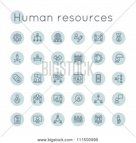 Vector Round Hr Icons