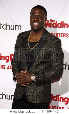 Kevin Hart at the Los Angeles premiere of 'The Wedding Ringer' held at the TCL Chinese Theater in Hollywood on January 6, 2015.