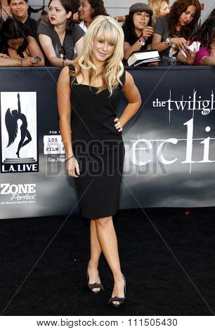 Chelsie Hightower at the Los Angeles premiere of 'The Twilight Saga: Eclipse' held at the Nokia Theatre L.A. Live in Los Angeles on June 24, 2010.