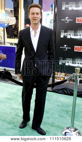 Edward Norton at the Los Angeles premiere of 'The Incredible Hulk' held at the Universal Studios Hollywood in Universal City on April 8, 2008.
