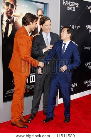Bradley Cooper, Ed Helms and Ken Jeong at the Los Angeles premiere of