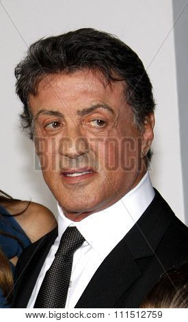 Sylvester Stallone at the Los Angeles premiere of 'The Expendables 2' held at the Grauman's Chinese Theatre in Hollywood on August 15, 2012.