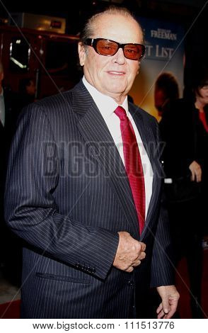 Jack Nicholson at the Los Angeles premiere of 'The Bucket List' held at the ArcLight Cinemas in Hollywood on December 16, 2007.