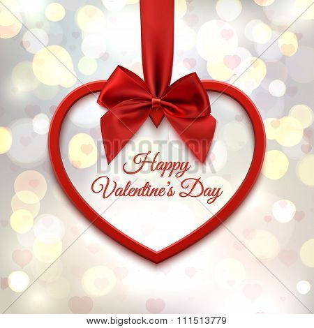 Happy Valentines day, greeting card template.