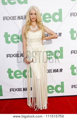 Alexis Knapp at the Los Angeles premiere of 'Ted
