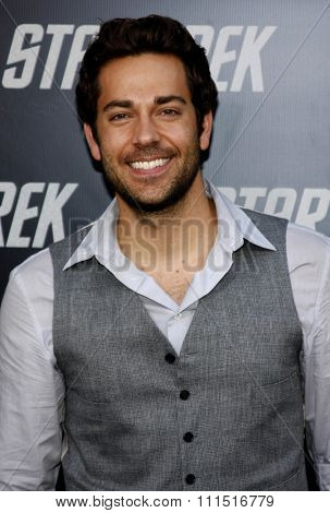 Zachary Levi at the Los Angeles premiere of 'Star Trek' held at the Grauman's Chinese Theater in Hollywood on April 30, 2009.