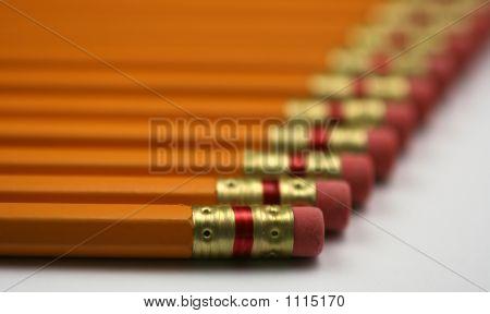 Pencils In A Row
