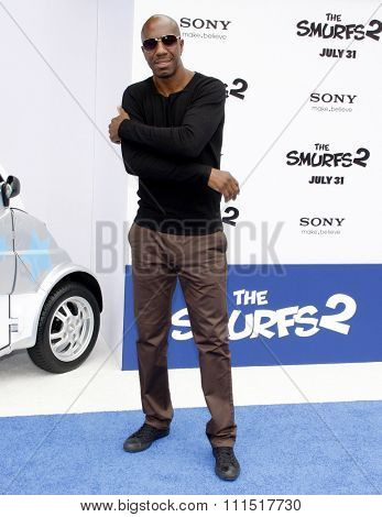 J.B. Smoove at the Los Angeles premiere of