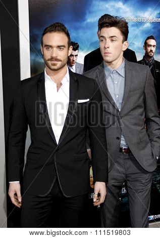 Joshua Sasse and Matthew Beard at the Los Angeles premiere of