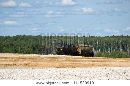 Articulated tracked terrain vehicle GAZ-3344-20