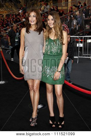 Teri Hatcher and Emerson Hatcher at the Los Angeles premiere of 'Pirates Of The Caribbean: On Stranger Tides' held at the Disneyland in Anaheim on May 7, 2011.