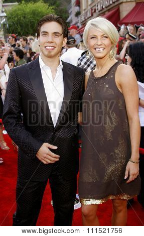 Apolo Anton Ohno and Julianne Hough attend the World Premiere of