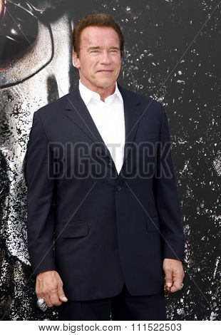 Arnold Schwarzenegger at the Los Angeles premiere of 'Therminator Genisys' held at the Dolby Theatre in Hollywood, USA on June 28, 2015.