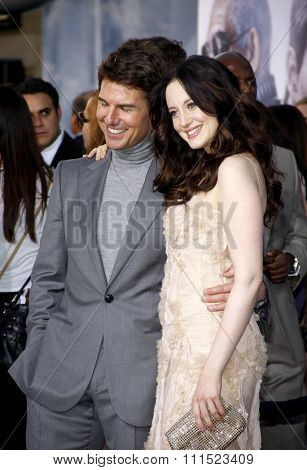 Tom Cruise and Andrea Riseborough at the