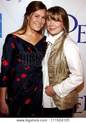 Sissy Spacek and Schuyler Fisk at the Los Angeles premiere of 'Penelope' held at the Directors Guild of America Theater in Los Angeles on February 20, 2008.