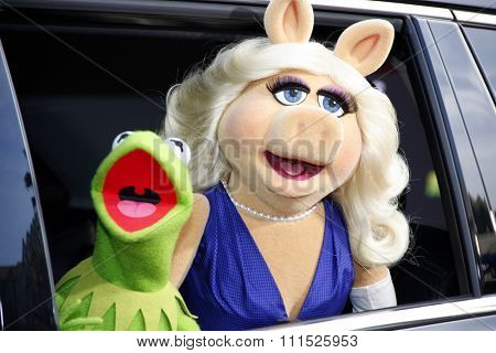 Muppets at the Los Angeles premiere of