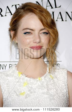 Emma Stone at the Los Angeles premiere of 'Irrational Man' held at the WGA Theatre in Beverly Hills, USA on July 9, 2015.