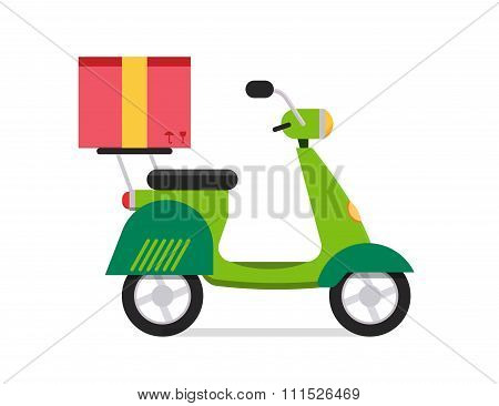 Delivery vector transport moto bike motorcycle box pack