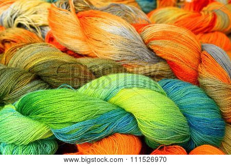 Different Colored Wool
