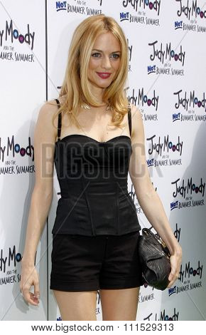 Heather Graham at the Los Angeles premiere of 'Judy Moody And The Not Bummer Summer' held at the ArcLight Cinemas in Hollywood on June 4, 2011.