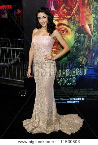 Yvette Yates at the Los Angeles premiere of 'Inherent Vice' held at the TCL Chinese Theatre in Hollywood on December 10, 2014.