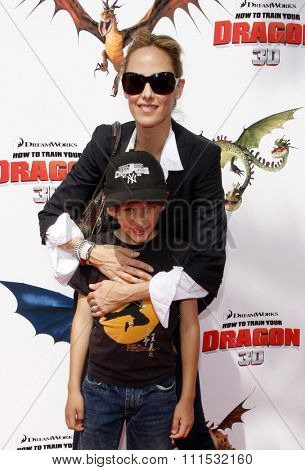 Kim Raver at the Los Angeles premiere of 'How To Train Your Dragon' held at the Universal Studios Gibson Amphitheatre in Universal City on March 21, 2010.